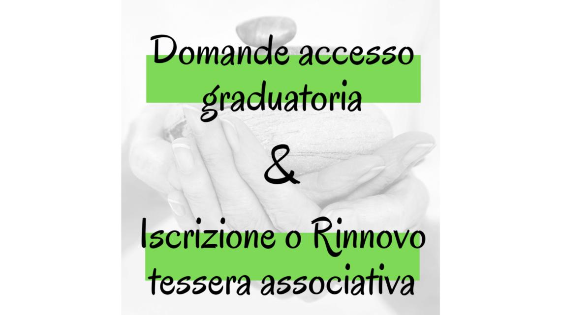 domanda accesso graduatoria e iscrizione o rinnovo tessera associativa