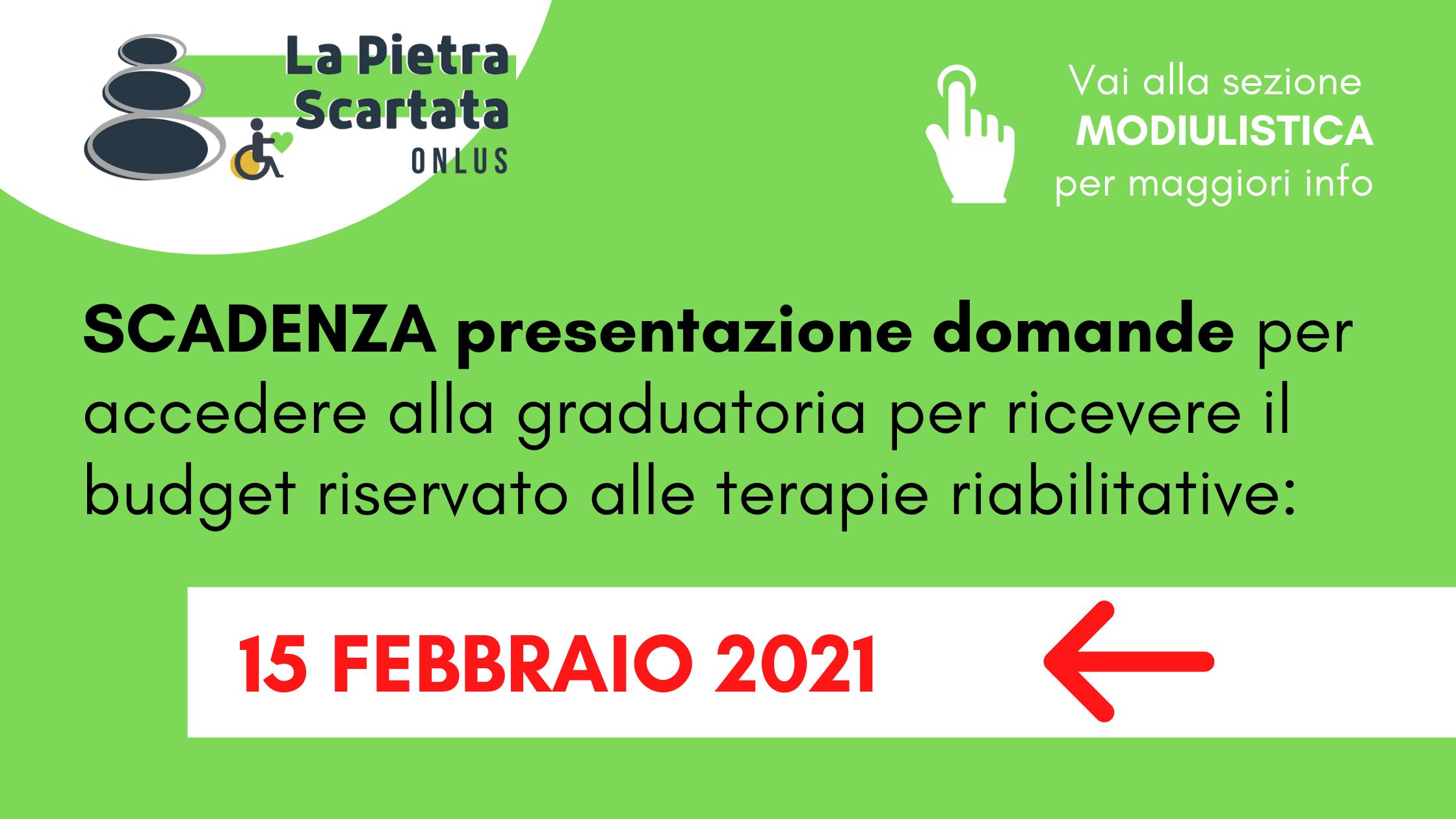 scadenza presentazione domande 2021